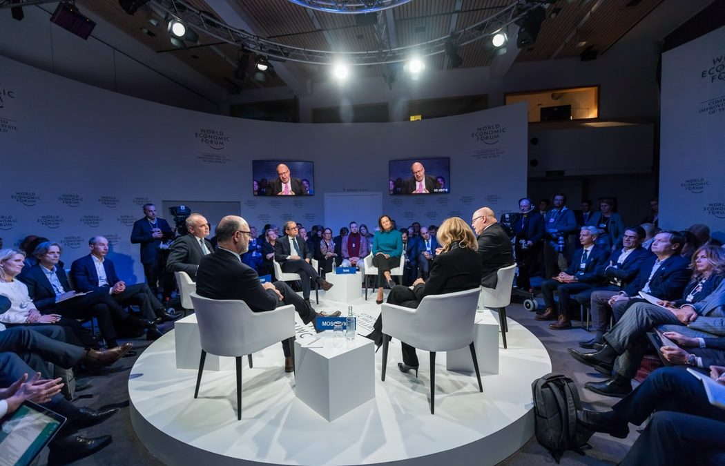 Digital Future Board Room during the World Economic Forum in Davos